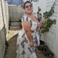 Collectif Dolores 50s Pineapple White Blue Toile Dress
